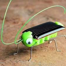 Baby Kids Solar Power Energy Insect Grasshopper Cricket Solar Novelty Funny Toys