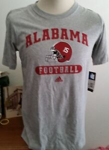 Adidas Alabama Football Gray T-Shirt, Size XL, Crimson Tide, #15