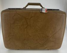 "Vintage American Tourister Suitcase Luggage Marble Brown Hard Polara 24""x16"""