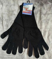 Ladies plain black LONG gloves by Flirt, Brand New winter spring warm cosy lot