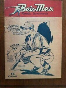 1942 Orig Mexican Baseball Magazine BEIS-MEX Martin Dihigo Life Story Own Words