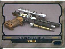 Star Wars Galactic Files 2 Blue Parallel Base Card #594 S-5 Blaster Rifle