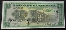 GUATEMALA BANKNOTE 1 Quetzal,  Pick 52f  XF  1969
