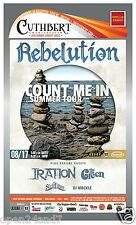 """REBELUTION / IRATION / THE GREEN """"COUNT ME IN TOUR 2014"""" PORTLAND CONCERT POSTER"""