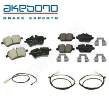 For Mini Cooper Paceman R60 R61 Front & Rear Brake Pad Set w/ Sensors Akebono