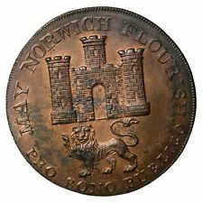 1792 Great Britain Norfolk Nathaniel Bolingbroke Halfpenny Conder Token D&H-14