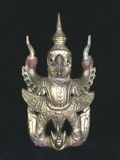 "Tibetan Temple Carving Gilded Jeweled GARUDA 10"" Bird of Vishnu"