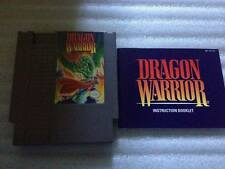 Dragon Warrior NES Cleaned and Tested with instruction booklet