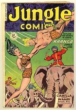 JUNGLE COMICS #127 (1950) VG- (3.5) ~ FICTION HOUSE ~ KAANGA ~ JUNGLE COMIC