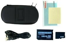 Sony PSP Bundle 1000, 2000, 3000 Case w/ Charger, Memory Card, Screen Protector