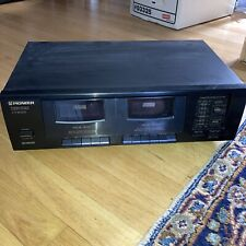 Pioneer CT-W103 Home Stereo Dual Cassette Tape DeckTested - w/ Wires