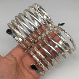 1 Pair, Spiral Kuchi Bracelet Tribal Fusion Cuff Banjara Afghan Nomadic, CB05