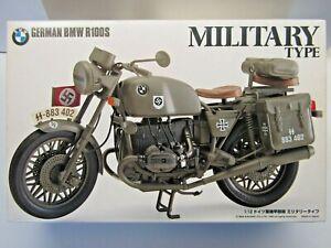 IMAI 1:12 Scale Military Type German BMW R100S Model Kit - # B-2518-2000 - New