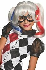 Girls DC Super Hero Harley Quinn Child Costume Wig   Rubies 32967
