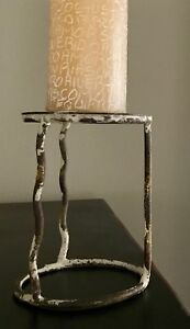 Wrought Iron Pillar Candle Stand