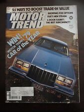 Motor Trend Magazine February 1979 Ford LTD Fiat Strada (QQ) W4 O