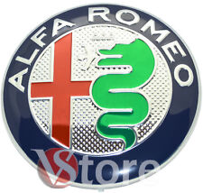 2 Stemma ALFA ROMEO Logo Cofano 74mm Anteriore Posteriore MY 2016 Green