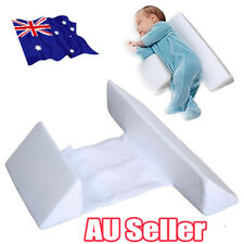 Memory Foam Baby Infant Sleep Pillow Support Wedge Adjustable White Cotton BO
