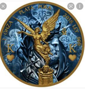 2018 1oz King and 1oz Queen Libertad Golden Noir Series