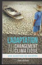 L'ADAPTATION AU CHANGEMENT CLIMATIQUE question sociétés CNRS