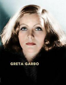 GRETA GARBO COLOR PHOTO 11 X 8.5 FREE SHIPPING