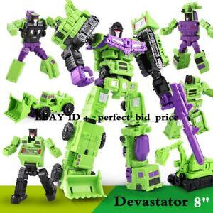 """BHX Devastator Engineering Truck Robot Combiner Action Figure 8"""" Toys In Stock"""