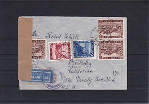 RRR 1947 BESONDERHEIT Portorichtige Flugpost Zensur Wien USA ANSEHEN und LESEN