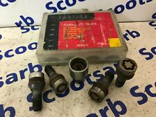 RENAULT Locking Wheel Nut Knut Bolts & Matching Key SET with Case FROM CLIO 2004