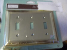 "ALLEN + ROTH TRIPLE TOGGLE OUTLET COVER POLISHED BRASS FINISH 7"" X 5"""