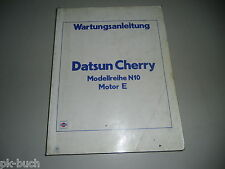 Werkstatthandbuch Wartungsanleitung Nissan Cherry N10 Motor E Stand 1981
