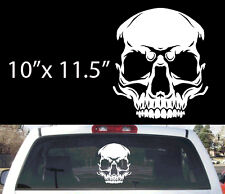 "Rounded Skull  rear window decal 10""x11.5"""