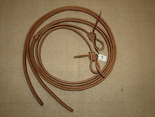 Western harness leather 1/2 x 8 split reins waterloop custom cowboy USA H128