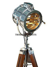 HOLLYWOOD STUDIO WOODEN STAND THEATER INDUSTRIAL SPOTLIGHT STAGE LAMP LIGHT