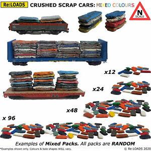 Crushed Scrap Cars, N Scale, N Gauge Model Rail Load, Scrapyard Junk Yard Scene