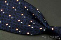 "DUNHILL Blue Geometric 100% Silk Mens Luxury Tie - 4.00"""