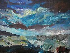 More details for  original contemporary acrylic landscape painting on canvas with free postage
