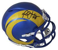 Rams Marshall Faulk Authentic Signed 2020 Speed Mini Helmet BAS Witnessed