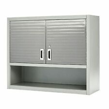 Garage Storage Cabinets Organizer Systems Metal Wall Mounted With Open Shelf New