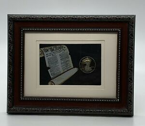 1938 Walking Liberty Silver Half Dollar Hand Cut Hollowed Out Coin Picture Art