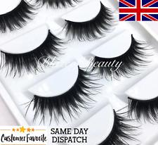 5 Pairs LONG WISPY False Eyelashes Set ST15 UK Strip Lashes MakeUp Mink Dupes