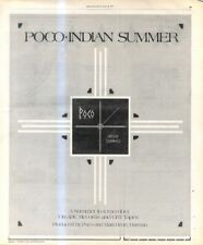 """(RST13) POSTER/ADVERT 13X11"""" POCO : INDIAN SUMMER"""