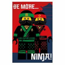 "OFFICIAL LEGO NINJAGO MOVIE NINJA SOFT FLEECE BLANKET ""BE MORE NINJA"""