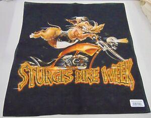 "Sturgis Bandana Wild Boar Pig Biker Bike Week  NEW 21.5"" x 22"" Use as Face Mask"