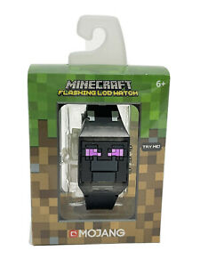 Minecraft Flashing LCD Wrist Watch for Boys Ender Dragon Black
