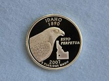 2007-S Idaho Silver Proof State Quarter Ultra Deep Cameo