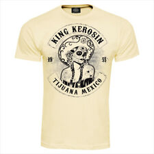 King Kerosin Tijuana Mexico T-Shirt Pin Up Rockabilly Oldschool Sugar Skull