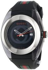 GUCCI SYNC XXL YA137101 WATCH WITH BLACK RUBBER BAND