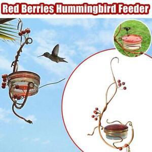 Creative Red Berries Hummingbird Feeder  Courtyard Bird Accessory Supplies HOT