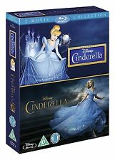 CINDERELLA 2-Movie Collection [Blu-ray Box Set] 1950 Animated & 2015 Film Disney