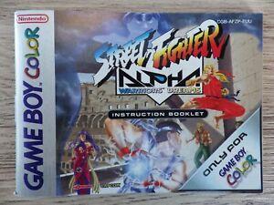 Manual Only Nintendo Game Boy Color Street Fighter Alpha Booklet Instruction Fr